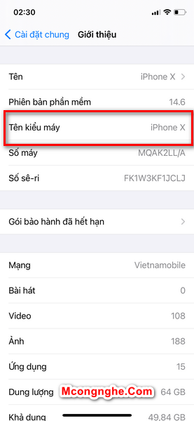 check imei iphone mới